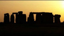 Royalty Free Stock Footage of Wide shot of Stonehenge at sunset.
