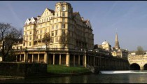 Royalty Free Stock Footage of Pan of an old building in Bath England.