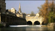 Royalty Free Stock Footage of Bridge at Grand Parade Bath England.