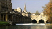 Royalty Free Stock Footage of Grand Parade bridge in Bath England.