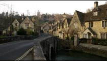 Royalty Free Stock Footage of Old stone village in England.