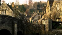 Royalty Free Stock Footage of Shot of an old stone village in England.