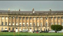 Royal Crescent houses in Bath England.