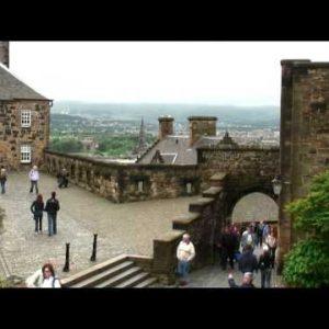 Courtyard of Edinburgh Castle in Scotland.