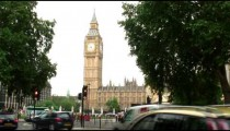 Big Ben clock tower in London England.