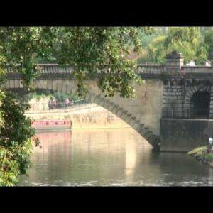 Bridge over the River Avon in Bath England.