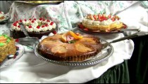 Table full of desserts.