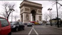 Arc de Triomphe in Paris and the traffic.