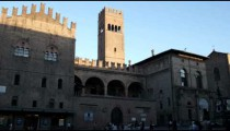Royalty Free Stock Footage of Plaza at Bologna Italy.