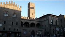 Royalty Free Stock Footage of Plaza at Bologna Italy.