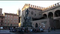 Royalty Free Stock Footage of Shot of a statue in Bologna Italy.