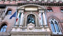 Royalty Free Stock Footage of Looking up at a building in Bologna Italy.