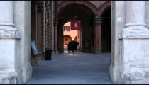 Royalty Free Stock Footage of Alleyway between old buildings in Bologna Italy.