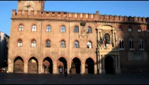 Royalty Free Stock Footage of Bologna cityscape at sunset.