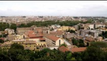 Panning shot of Rome Italy.