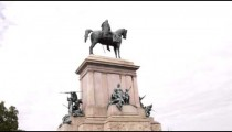 Statue of a man on a horse in Rome Italy.