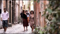 Tourists taking photographs in Rome Italy.