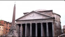 The Pantheon in Rome Italy.