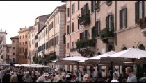 Shot of a busy street in Rome Italy.