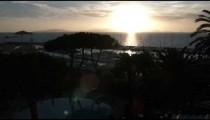 Ocean sunset in Punta Ala Italy.