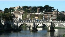 Shot of an old bridge in Rome Italy.