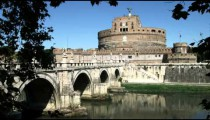 Vatican and a bridge in Rome Italy.