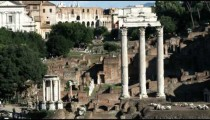 Shot of ancient ruins of old Rome.