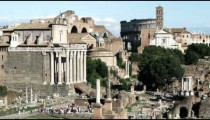 Ancient Roman ruins in Rome Italy.