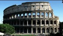 Shot of the Roman Coliseum Italy.