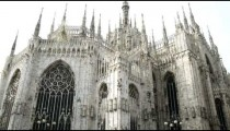 Old cathedral in Milan Italy.