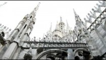 Beautiful old cathedral in Milan Italy.