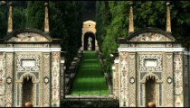 Garden entrance near Lake Como in Italy.