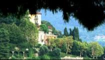Shot of a building near Lake Como in Italy.