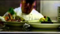 Chef preparing food at a nice restaurant in Salt Lake City.
