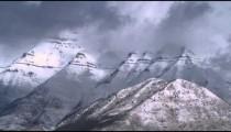 Snowy landscape in Utah.