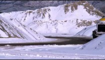 Snowy scenery in Utah.