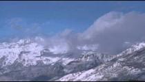Snowy mountain landscape in Utah.
