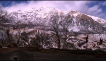 Time-lapse of a snowy landscape in Utah.