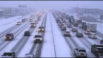 Winter storm traffic.