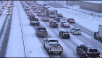 Clip of winter storm traffic.