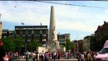 National Monument in Dam Square in Amsterdam.