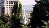 Temple of the Church of Jesus Christ of Latter-Day Saints in Salt Lake City.