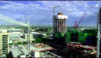 Construction in downtown Salt Lake City Utah.