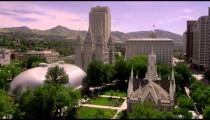 Construction site near Temple Square in Salt Lake City Utah.