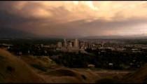 Downtown Salt Lake City Utah at dusk.