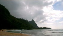 Time-lapse of the ocean at Haena Beach on Kauai.