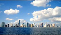 Time-lapse of the skyline of Miami.