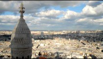 Time-lapse of a buttress at Sacre-Coeur in Paris France.