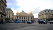 Time-lapse of Place de l'Opera in Paris France.