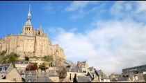 Time-lapse of Mont Saint-Michel in Normandy.